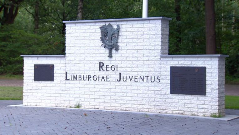 Het monument van de Limburgse Jagers in Oirschot, Brabant. Beeld