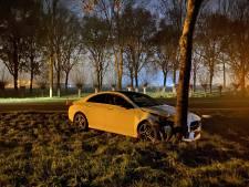 Mercedes klapt tegen boom in Utrecht, bestuurder raakt gewond