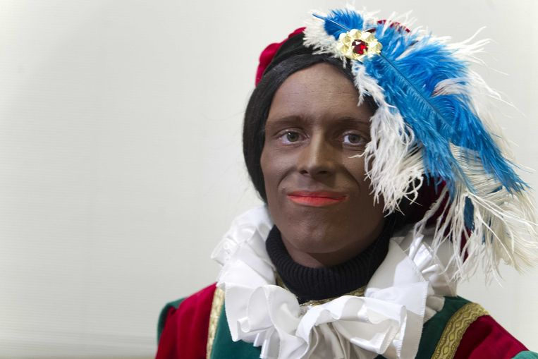 De nieuwe Zwarte Piet zoals gepresenteerd bij Knevel & Van Den Brink Beeld anp