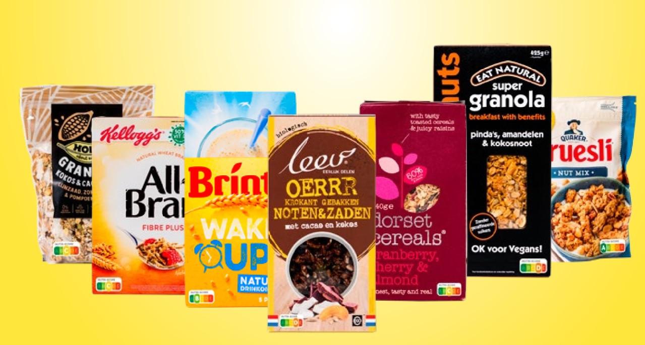 De Consumentenbond legde ontbijtgranen tegen de Nutri-Scorelat.
