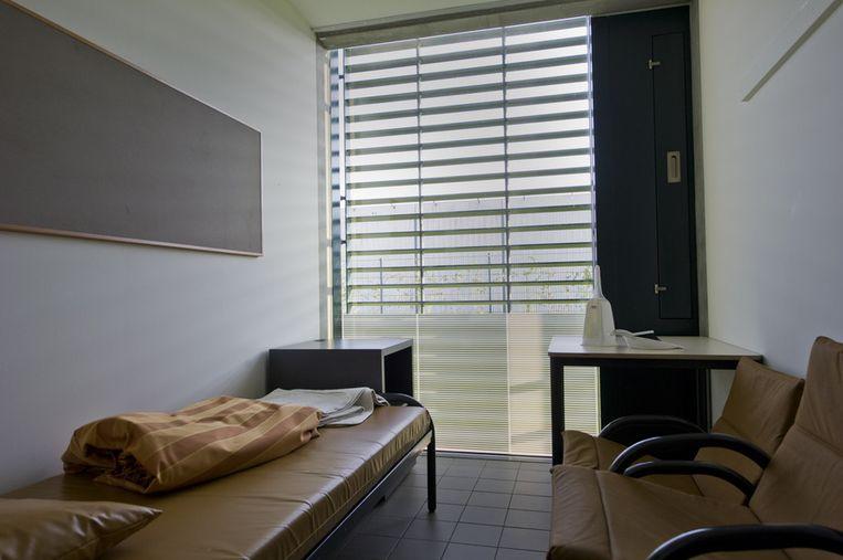 Een cel in het forensisch psychiatrisch centrum Oostvaarderskliniek in Almere waar Richardo is behandeld.  Beeld ANP