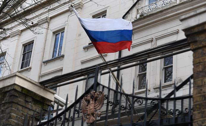 Het Russische consulaat in Londen.