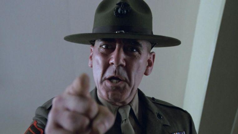 R. Lee Ermey als drillsergeant in Full Metal Jacket Beeld Screenshot