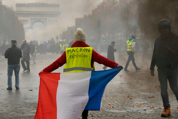 In Parijs liep het protest van de gele hesjes danig uit de hand.