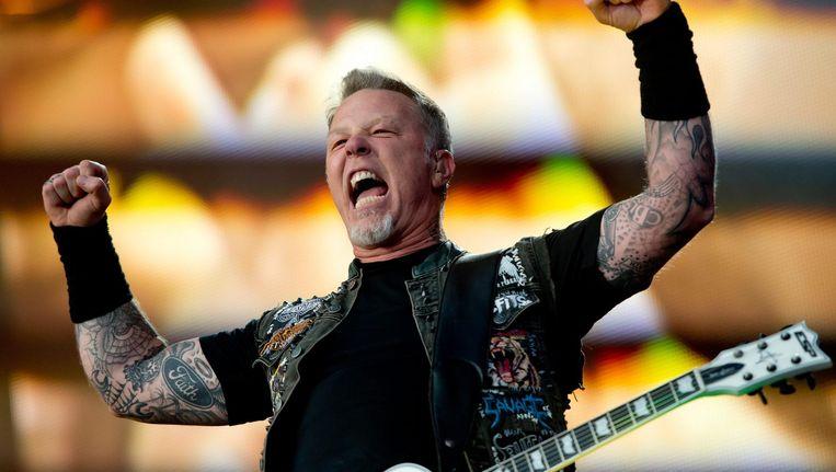 Zanger en gitarist James Hetfield van Metallica. Beeld anp