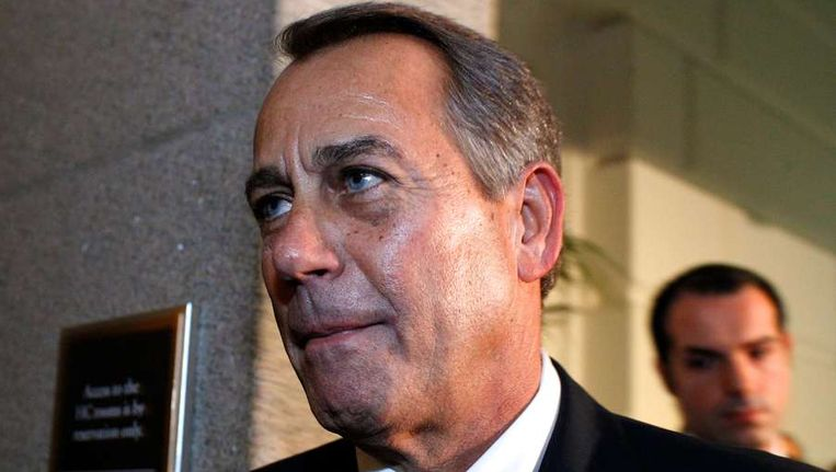 John Boehner, de Republikeinse voorzitter van het Huis van Afgevaardigden. Beeld afp