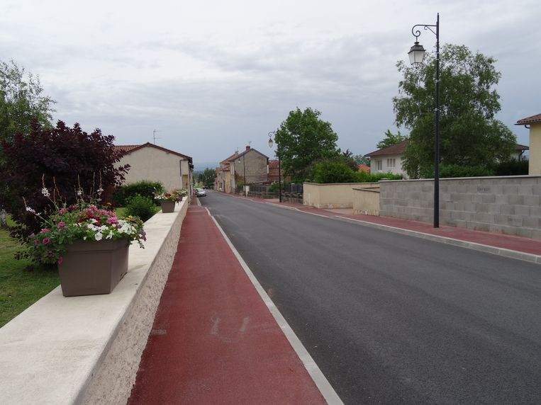 A general view of the scene of the Team Ineos' Chris Froomes crash in Saint-Andre-d'Apchon, France. ! only BELGIUM !