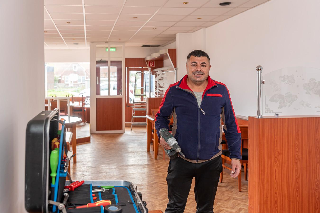 Nubar Rony heeft nog wat werk te verzetten, maar half september wil hij zijn nieuwe zaak, Pizzeria Bru, openen.