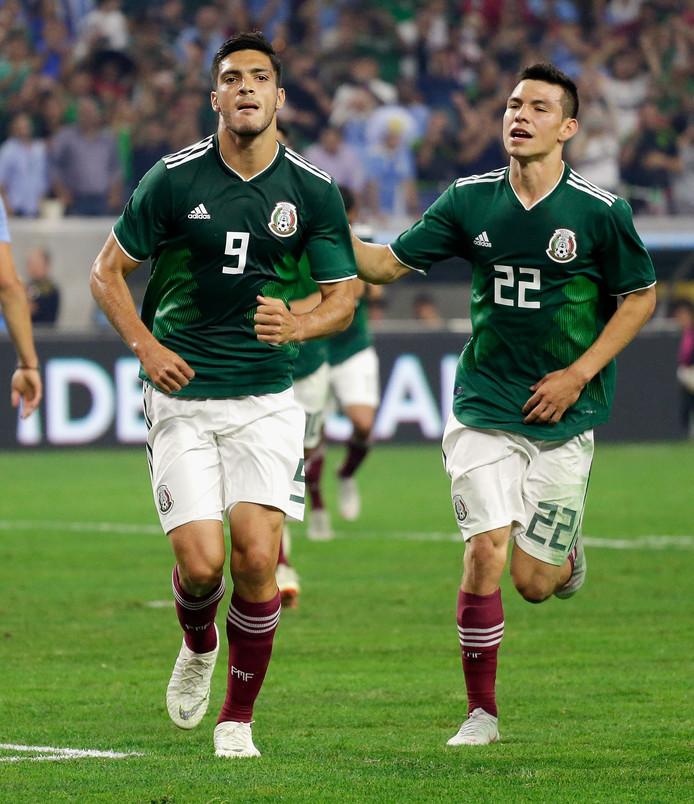 Raul Jimenez en Hirving Lozano.