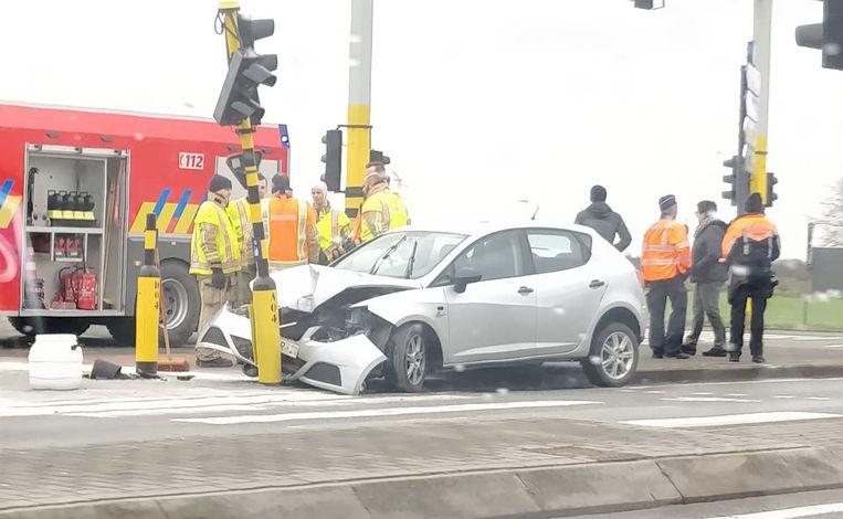 De chauffeur raakte niet gewond.