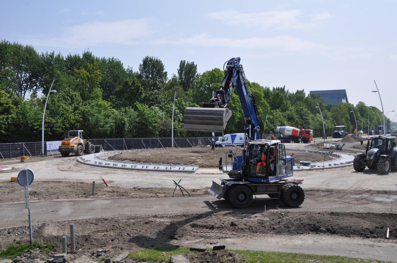 Rotonde in wording bij Terneuzen.