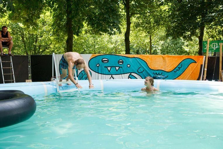 In 2016 was het zwembad een succes. Ook dit jaar is een plonspartij mogelijk... als het bad mag gevuld worden.