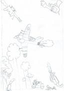 Illustratie uit 'De wens in het water.' De tekeningen zijn gemaakt door leerlingen van de Bakelse basisschool De Kleine Kapitein.