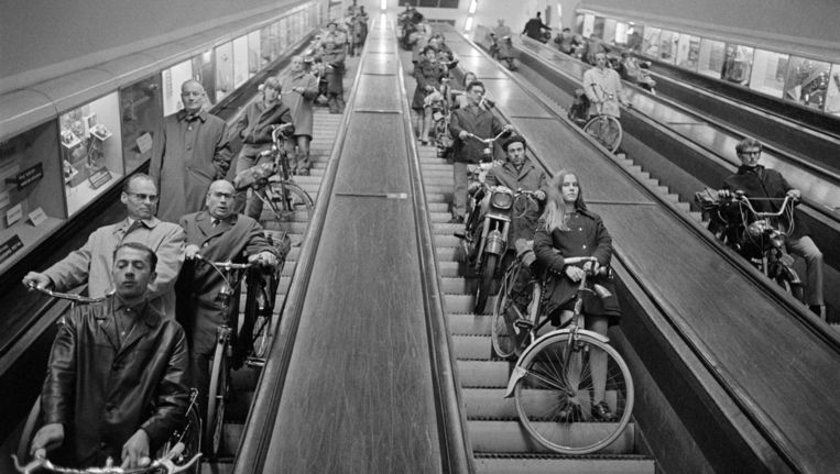 De Maastunnel, Rotterdam, 1970 Beeld Herbert Behrens/HH