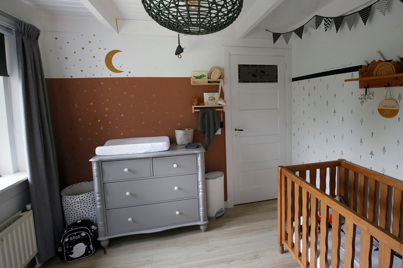 De babykamer heeft Sarina inmiddels al drie maal gerestyled.