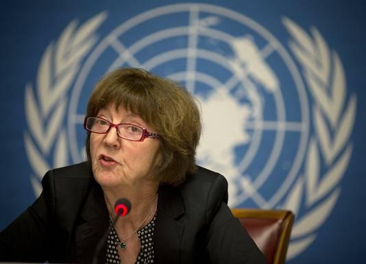 Kirsten Sandberg, présidente du Comité des droits de l'enfant,