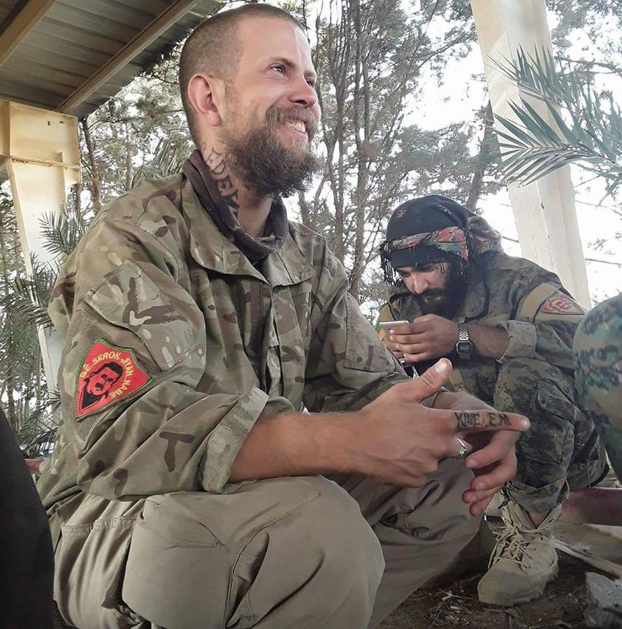Sjoerd H. in Koerdisch gebied in Syrië.