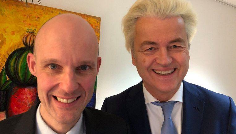 Maurice Meeuwissen en Geert Wilders. Beeld Twitteraccount Geert Wilders