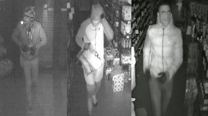 Politie op zoek naar drie mannen die inbraak pleegden bij Carrefour Express in Dworp