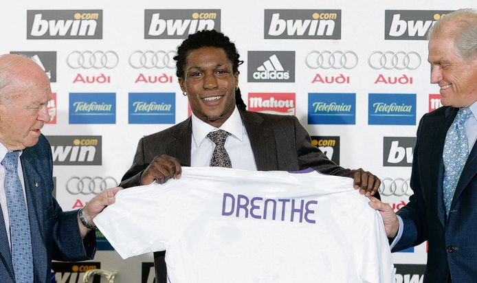Drenthe tekende in 2007 bij Real Madrid.