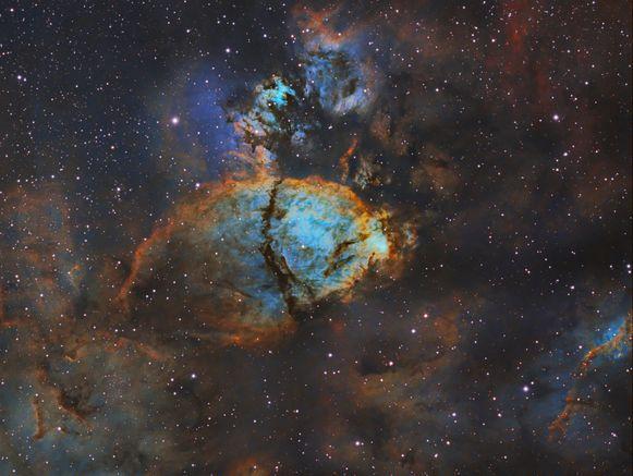 De Hartnevel in het sterrenbeeld Cassiopeia.
