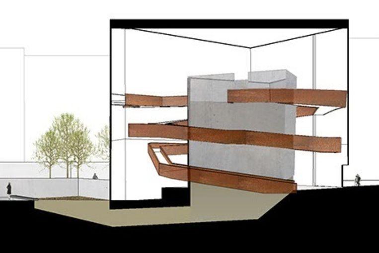 Zo moet het uitvaar-compostcentrum eruit gaan zien. Beeld The Urban Death Project