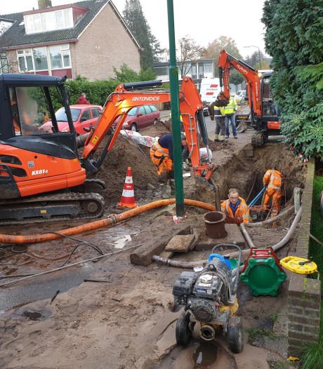 Drie waterlekken in Bilthoven door leidingbreuken