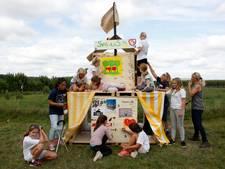 Deelnemers speelweek Cowcity bouwen Koewacht na