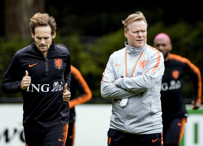 Daley Blind, Ronald Koeman en Ryan Babel.