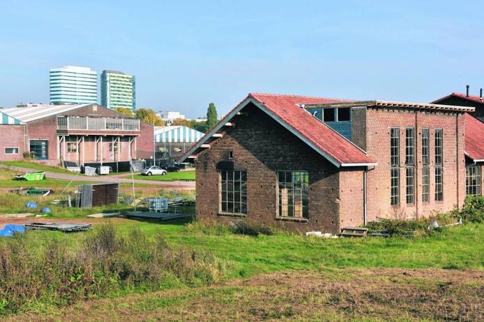 Het bedrijventerrein in Meinerswijk waar ontwikkelaar KWP 'woningen in het groen' wil bouwen. Foto Gerard Burgers