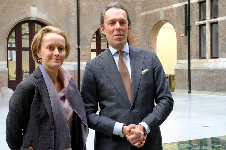Annick De Ridder, vanaf januari Havenschepen, met de topman van het Havenbedrijf Jacques Vandermeiren.