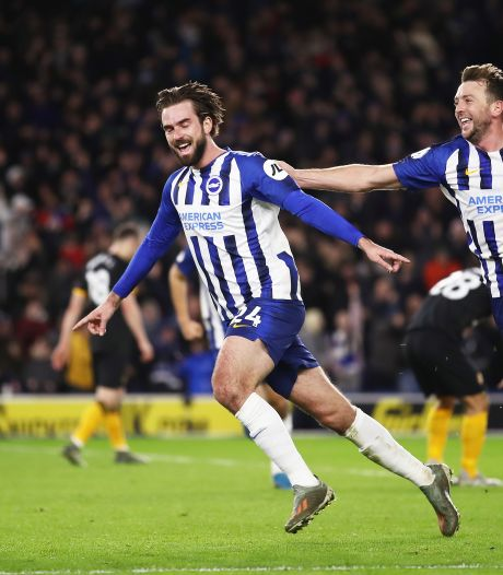 Ex-PSV'er Pröpper maakt tegen Wolves tweede goal namens Brighton