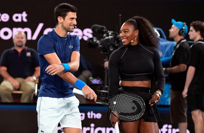 Novak Djokovic en Serena Williams.