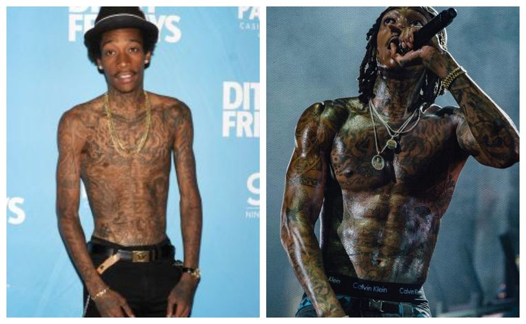 Rapper Wiz Khalifa is getting jacked just training Muay Thai