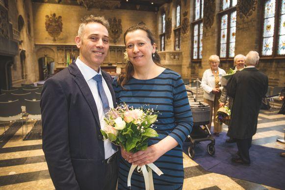 Delphine D'Hoker en Steven Van Nimmen huwden vanmorgen