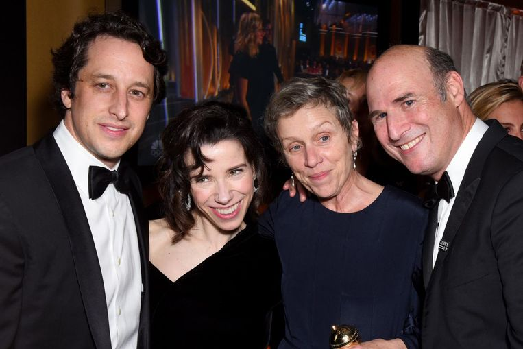 V.l.n.r.: David Greenbaum, Frances McDormand, Sally Hawkins en Matthew Greenfield. Beeld null
