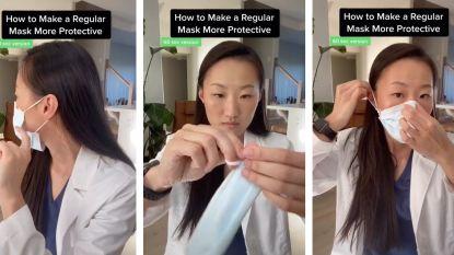 Tandarts gaat viraal met trucje om je mondmasker goed te laten aansluiten op je gezicht