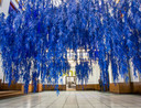 Een installatie van het Spaanse collectief Wanda Barcelona zuigt de bezoeker de tentoonstelling in.