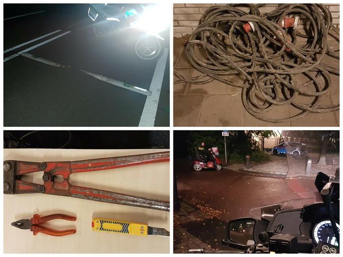 De drukke nachtdienst van de politie Urk / Noordoostpolder gevat in vier plaatjes.