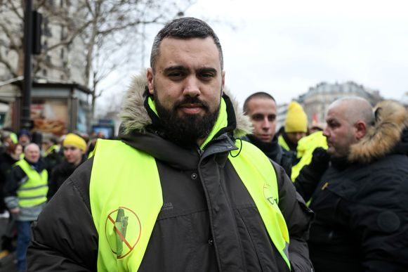 Vrachtwagenchauffeur Éric Drouet.