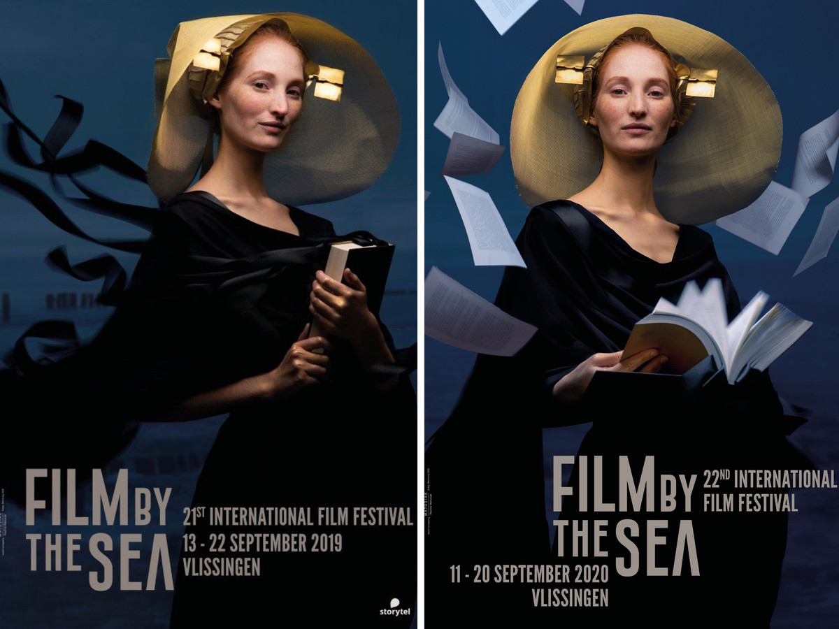 Links de poster van Film by the Sea 2019, rechts de poster voor de editie 2020