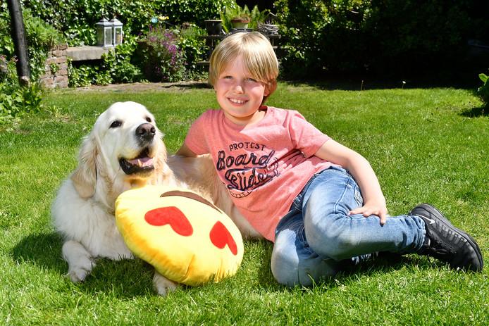 Lucas (8) uit Soest zocht de Rotterdamse Zoë