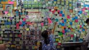 Demonstranten in Hongkong versieren muren met kleurrijke boodschappen