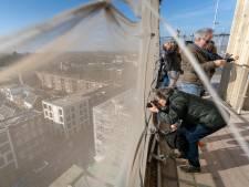Voor de laatste keer: Arnhem van boven vanaf steigers Eusebiuskerk