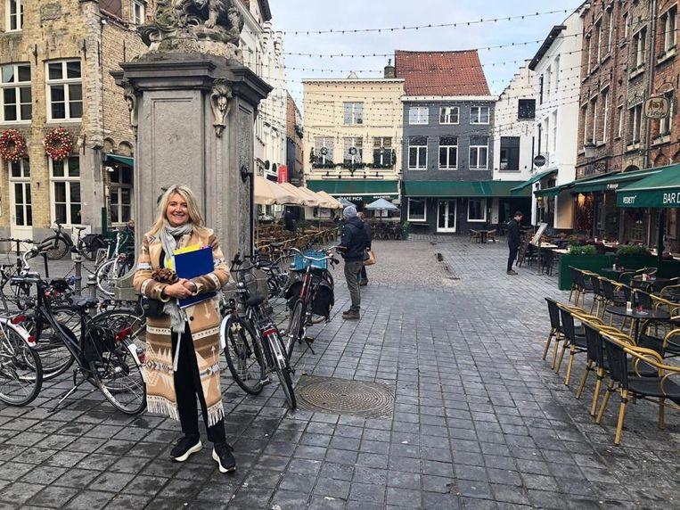 Mercedes Van Volcem aan de Eiermarkt.