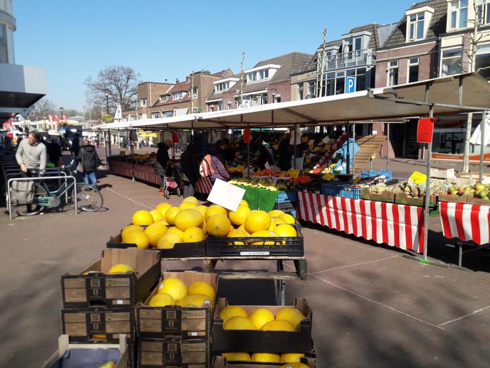 De markt in Soest kende donderdag maar een vijftiental kramen.