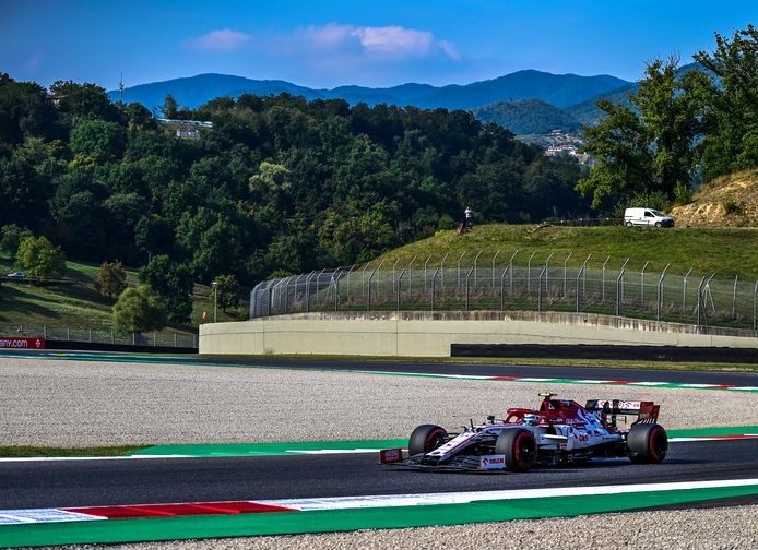 Kimi Räikkönen op het circuit van Mugello.