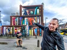'Muurschildering van boekenkast in Utrechtse straat is echt vet'