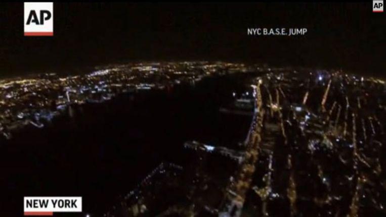 Uitzicht vanaf het World Trade Center voor de sprong