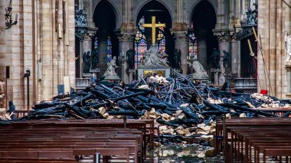 """Macron: """"Binnen vijf jaar staat Notre-Dame er weer"""""""